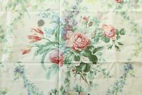 2.5Y VTG Lightweight Cotton Fabric Rose Floral Cottage French Country Provincial