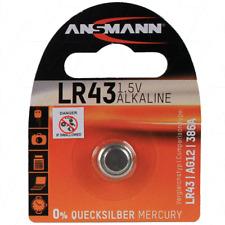 ANSMANN Alkaline 1.5V Cell Battery AG12/SR43W/SR43/386/LR43