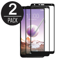 2X Pack Full Coverage Tempered Glass Black Frame for LG Stylo 4 Q710MS Q Stylus