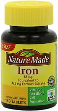 Nature Made Iron 65mg, 180 Tablets: 3 packs