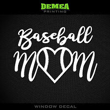 "Baseball Mom - Baseball - Style2 - 5"" Vinyl Decal/Sticker - CHOOSE COLOR"