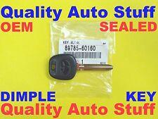 OEM SEALED 2003 - 2010 Toyota Dimple Transponder Chip Key TOY44D-PT 89785-60160