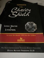 More details for leeds united vs liverpool 8th august 1992 charity shield programme