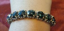 Jewels by Park Lane Jet Black Faceted Crystal Signature Tennis Bracelet 7.5""