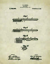 Dentist Patent Poster Art Print Vintage Dental Instruments Tools Chairs PAT183