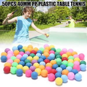50PCS Ping Pong Balls 40mm 2.4g Mixed Colour No Logo Table Tennis Beer Wholesale