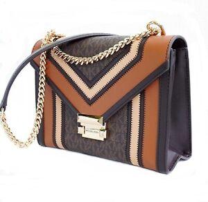 Michael Kors Bag Handbag Whitney Large Shoulder Bag Braun Multi New