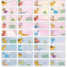 132 - Naughty Dinosaur Personalised Name Label Sticker- Pencil 22*09mm