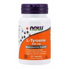 NOW Foods L-Tyrosine, 500 mg, 60 Capsules