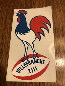 VINTAGE 1950's VILLEFRANCHE XIII AVEYRON RUGBY TEAM STICKER UNUSED NEW RARE 👍