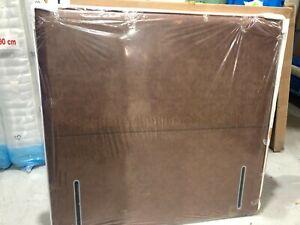 HYPNOS Emily euro slim 135cm headboard in man antique tan F/leather RRP £675.00