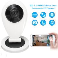 1080P HD Wifi IP Cámara 180° Seguridad IR Inalámbrico Vision Nocturna Vigilancia