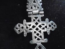Exact Replica  ANCIENT COPTIC TRIBAL SILVER CROSS 86 mm x 61 mm UNIQUE PENDANT