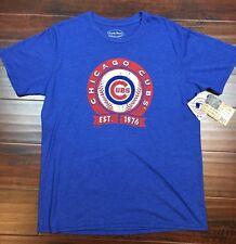 Majestic Threads Chicago Cubs Tri-Blend Tshirt Baseball Target Size XL Blue