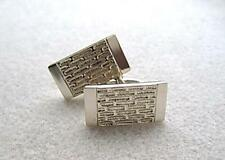 Silver No Stone Cufflinks for Men