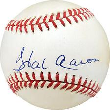 Hank Aaron Authentic Autographed Signed NL Baseball Atlanta Braves V61237