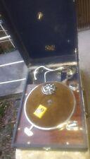 ancien gramophone pathé en valise