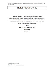 348 Page Medevac Standing Orders Treatment Protocols Template V 1.0 & 1.3 on Cd