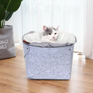 Thick Plush Pet Cat Dog Bed Soft Cat Nest Cave House Kennel Sleeping Bag Mat