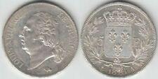 Pièces de monnaie françaises de 5 francs 5 francs en argent sur Louis XVIII