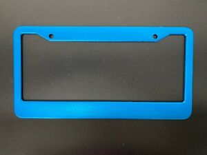 1PC Blue ALUMINUM ALLOY METAL LICENSE PLATE FRAME HOLDER COVER FRONT OR REAR