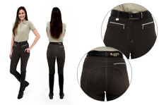 *CLEARANCE* Rugged Coolmax Ladies Gel Seat Breeches - Graphite Brown