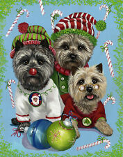 "Precious Pets Garden Flag - Cairn Terrier Elves 12"" x 18"" ~ Charity!"