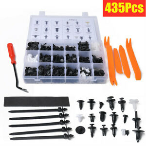 435Pcs 19Sizes Car Door Panel Retainer Push Pin Trim Rivet Screw Clip Fasteners