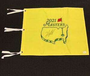 Hideki Matsuyama Signed 2021 Masters Flag - Japan - JSA #Z91754 **Super Rare**