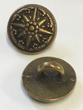Metal Brass / Bronze Coloured Shank Button Decorative 11.5mm / 18L 10pcs