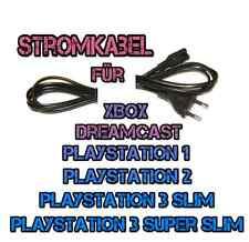 *NEUWERTIG* Netzkabel Stromkabel für Playstation1 PS2 PS3 XBOX Dreamcast