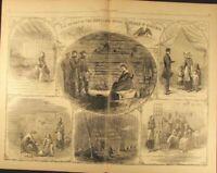 Home Life in Virginia During Rebellion 1864 antique Harpers Civil War print