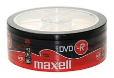 Maxell DVD-R 4.7GB 16X Speed 25 Disc Pack BLANK DVD DISCS FREE 1st CLASS POST UK
