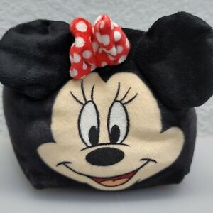 """Disney Cubd Collectibles Plush 5"""" Squich Mini Travel Pillow Minnie Mouse Bow"""