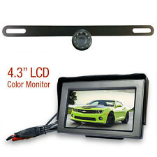 """Top Dawg Electronics Backup License Plate WIRED Bracket Camera with 4.3"""" LCD"""