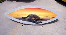 Sea Turtle in sunset Surfboard Wall Art Hand painted original nautical sea life