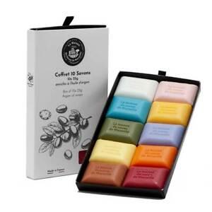 French Soaps - 10 x 25g Argan Oil Fragrances - Gift Pack - Savon de Marseille