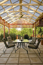 Smoke Tint Corrugated Polycarbonate Pergola Roofing OFFCUT 840Lx778Wx0.8mm Thick