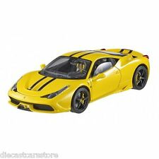 HOT WHEELS ELITE FERRARI 458 SPECIALE 1/18 DIECAST MODEL CAR YELLOW BLY32