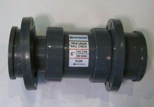 "HAYWARD 6"" True Union Ball Check Valve - PVC - Flanged - FPM Seal - 150 PSI -"