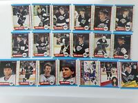 1989-90 O-Pee-Chee OPC Los Angeles Kings Team Set of 19 Hockey Cards