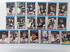 1989-90 O-Pee-Chee OPC Los Angeles Kings Team Set of 19 Hockey Cards