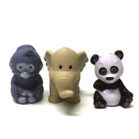 Lot 3pcs FISHER-PRICE Little People Zoo animals bear monkey elephant Figure doll