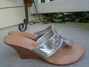 NEW Jack Rogers silver Wedge Sandals size 7M