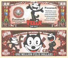 Felix the Cat Animated Cartoon Character Million Dollar Bills x 2 Animation
