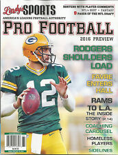 BRAND NEW 2018 LINDY'S SPORTS PRO FOOTBALL MAGAZINE AARON RODGERS PACKERS KRAMER