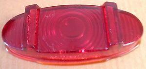NOS 1949 1950 PACKARD CUSTOM 8 GLASS TAIL LIGHT LENS. PATSG. HALL 20952. .