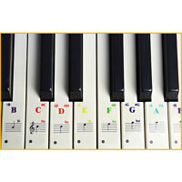 Removable Piano & Keyboard Stickers for 37/54/61/88 Clear Practice Note