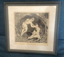 "Limited Edition 3/10 Etching Framed Approx 12"" x 12"" Preowned 894ZH"