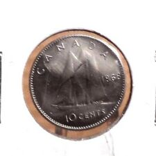 CIRCULATED 1968 10 CENTS CANADIAN COIN (71016)
